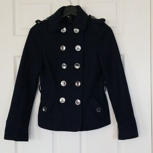 Divided recycled wool coat
